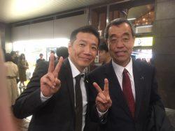 上田(兄)さんと一緒に出演しました。